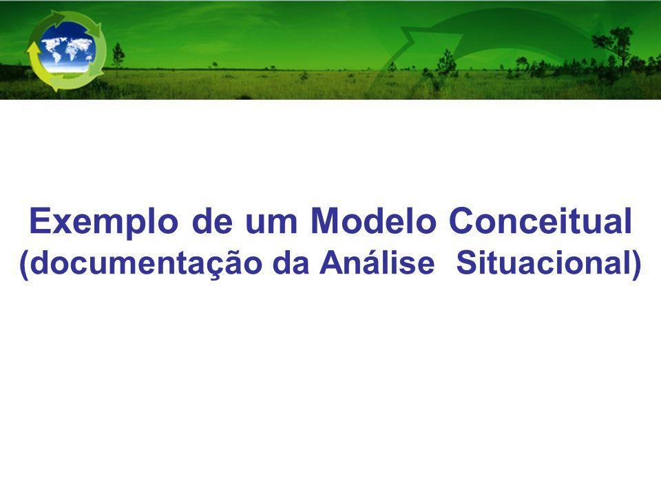 Exemplo de um Modelo Conceitual (documentação da Análise Situacional)