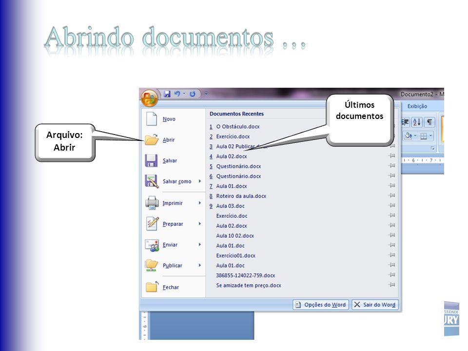 Últimos documentos Arquivo: Abrir
