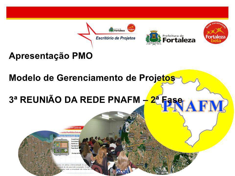 Apresentação PMO Modelo de Gerenciamento de Projetos 3ª REUNIÃO DA REDE PNAFM – 2ª Fase