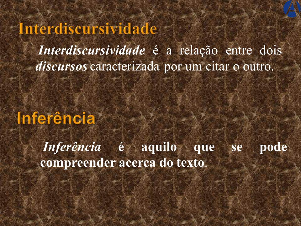 Discurso é toda atividade comunicativa formada por texto e contexto discursivo que é capaz de gerar sentido e é desenvolvida entre interlocutores. Int