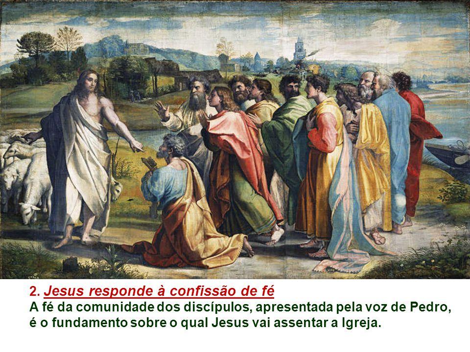 1.Jesus interroga os discípulos: O que as pessoas dizem dele e o que os discípulos pensam.