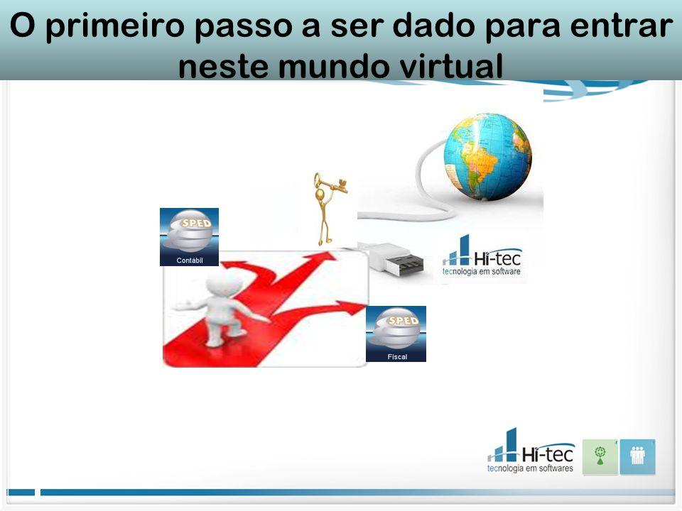 O primeiro passo a ser dado para entrar neste mundo virtual