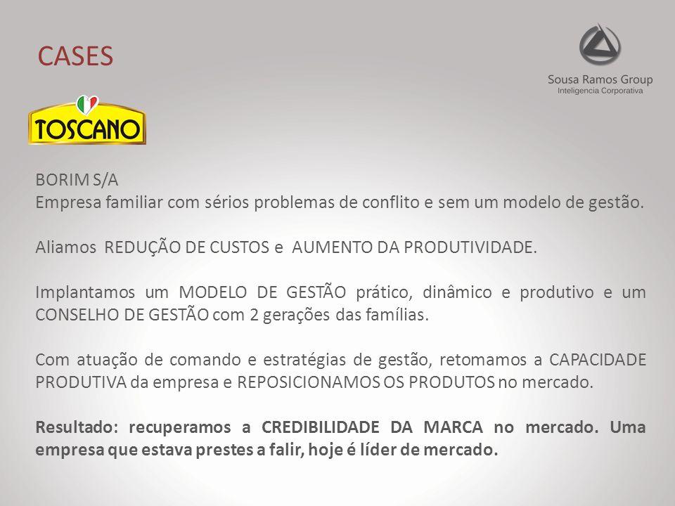 CASES BORIM S/A Empresa familiar com sérios problemas de conflito e sem um modelo de gestão.