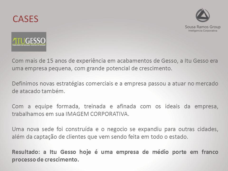 CASES Com mais de 15 anos de experiência em acabamentos de Gesso, a Itu Gesso era uma empresa pequena, com grande potencial de crescimento.