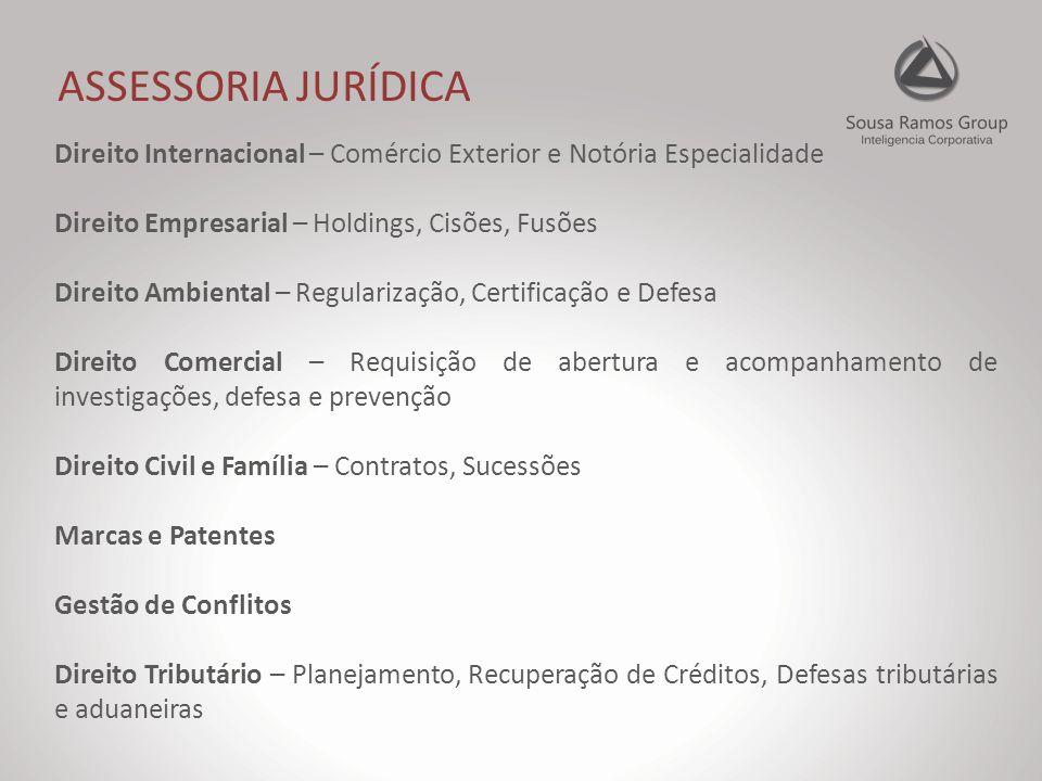 GESTÃO DE NEGÓCIOS Consultoria Estratégica Gestão em processos da cadeia produtiva Gerenciamento de conflitos Sucessões Captação de recursos Business Management e Network Consultoria em certificações ISO Projetos de Automação Industrial