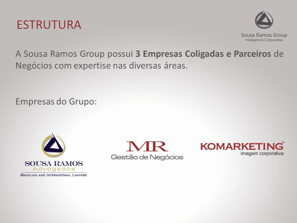 ESTRUTURA A Sousa Ramos Group possui 3 Empresas Coligadas e Parceiros de Negócios com expertise nas diversas áreas.