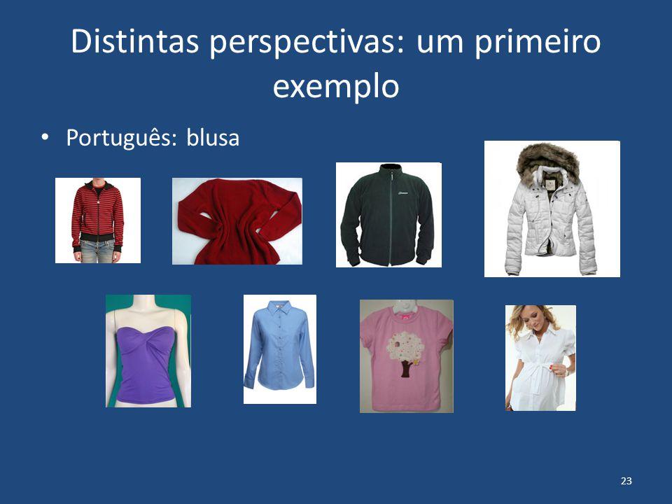 23 Distintas perspectivas: um primeiro exemplo Português: blusa
