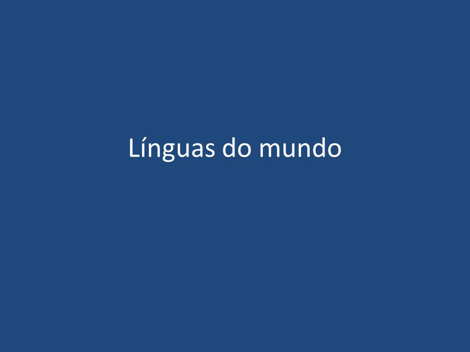 Línguas do mundo