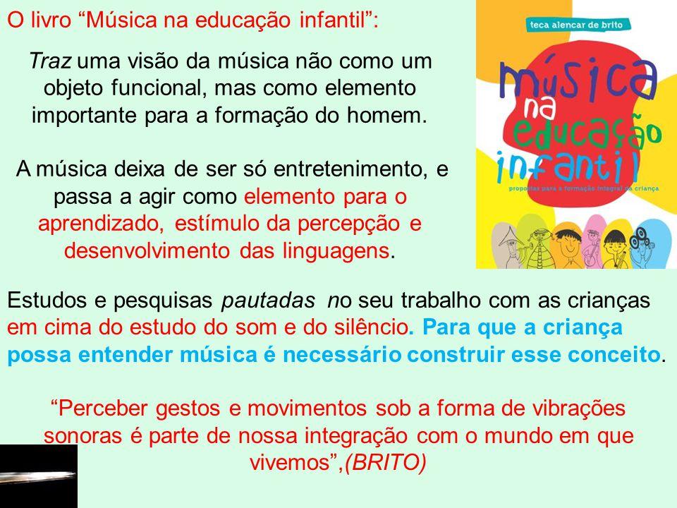 Estudos e pesquisas pautadas no seu trabalho com as crianças em cima do estudo do som e do silêncio. Para que a criança possa entender música é necess