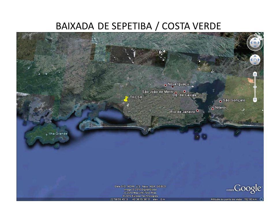 Área de Estudo: Região Hidrográfica II População: 1,89 milhões Área: 3.715 km² 15 municípios: Integralmente: Engenheiro Paulo de Frontin, Itaguaí, Japeri, Mangaratiba, Paracambi, Queimados e Seropédica.