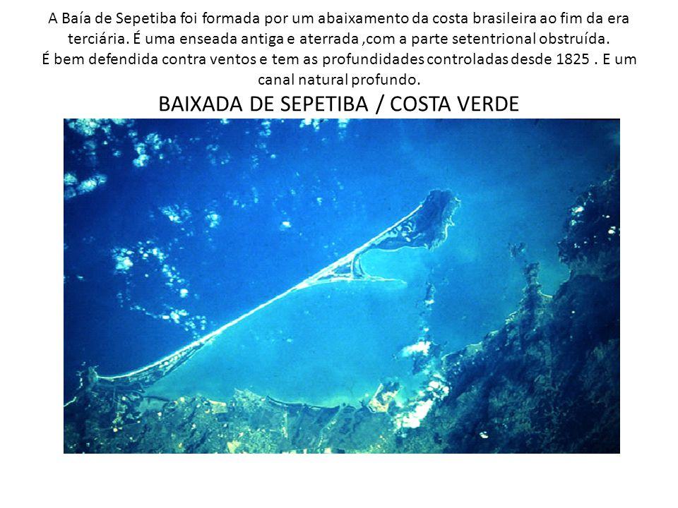 A Baía de Sepetiba foi formada por um abaixamento da costa brasileira ao fim da era terciária.