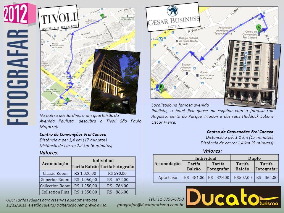 O hotel Tryp Higienópolis está localizado na zona comercial e de negócios de Higienópolis, em São Paulo.