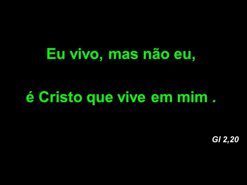 Eu vivo, mas não eu, é Cristo que vive em mim. Gl 2,20