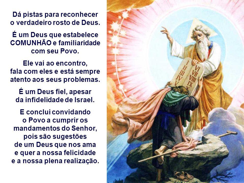A 1ª Leitura apresenta o Deus da ALIANÇA. Deus é o PAI que com sabedoria criou e dirige o universo. (Dt 4, 32-34.39-40) É parte de um discurso de Mois