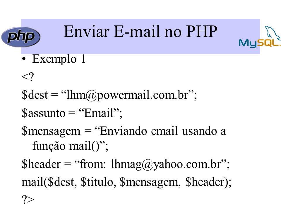 Enviar E-mail no PHP Exemplo 1 <.