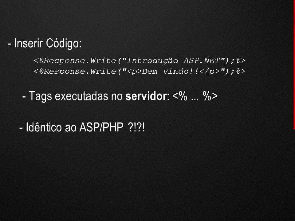 - Inserir Código: Bem vindo!!