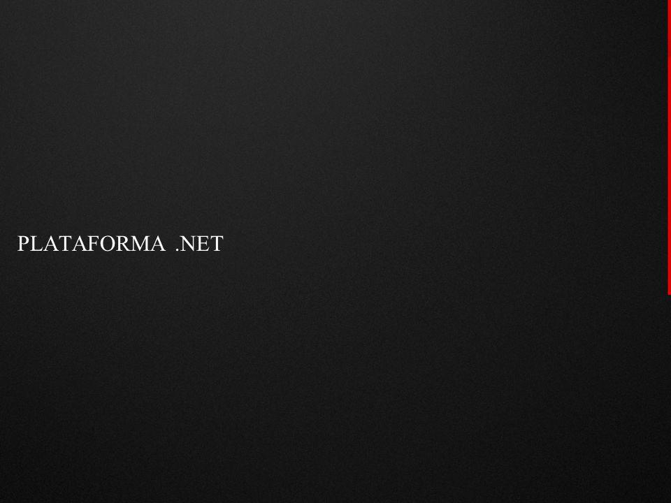  Histórico: Microsoft oferece uma série de linguagens e ferramentas para desenvolvimento de aplicações:  Visual Basic  ASP  Plataforma.NET: plataforma para desenvolvimento de aplicações.