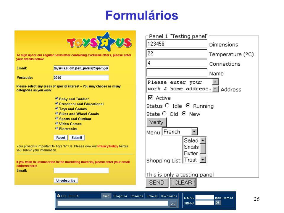 26 Formulários