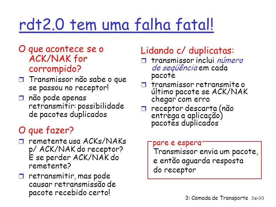 3: Camada de Transporte3a-30 rdt2.0 tem uma falha fatal.