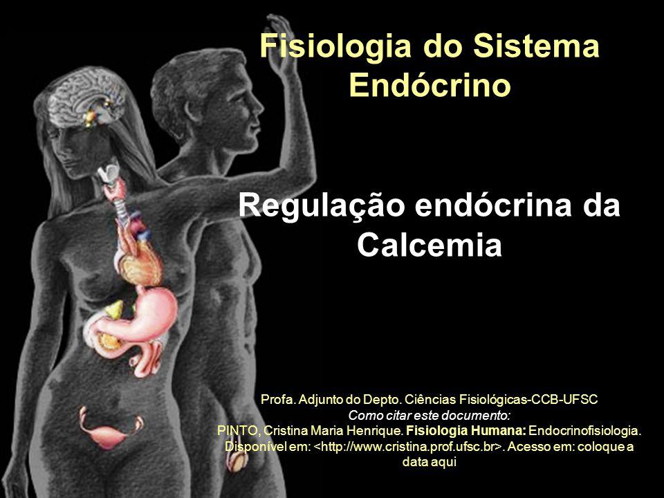 Fisiologia do Sistema Endócrino Regulação endócrina da Calcemia Profa. Adjunto do Depto. Ciências Fisiológicas-CCB-UFSC Como citar este documento: PIN