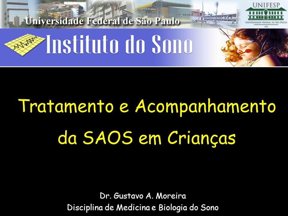 Tratamento e Acompanhamento da SAOS em Crianças Dr. Gustavo A. Moreira Disciplina de Medicina e Biologia do Sono