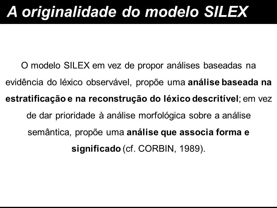 A originalidade do modelo SILEX análise baseada na estratificação e na reconstrução do léxico descritível análise que associa forma e significado O mo