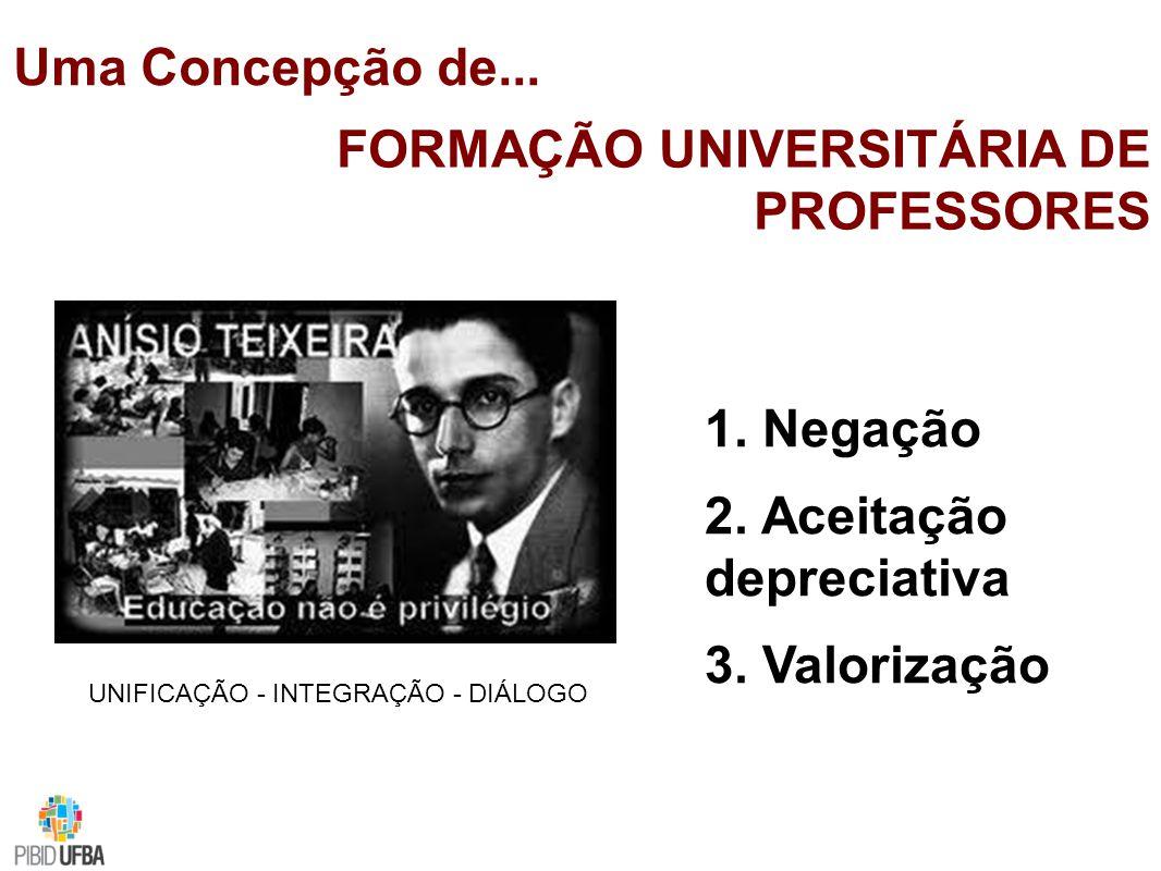 Uma Concepção de...FORMAÇÃO UNIVERSITÁRIA DE PROFESSORES 1.
