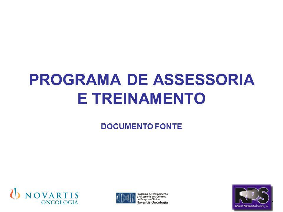 1 PROGRAMA DE ASSESSORIA E TREINAMENTO DOCUMENTO FONTE