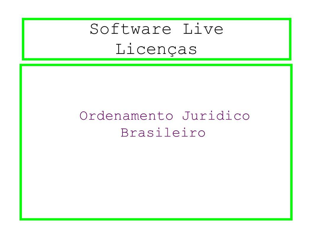 Software Live Licenças Ordenamento Juridico Brasileiro
