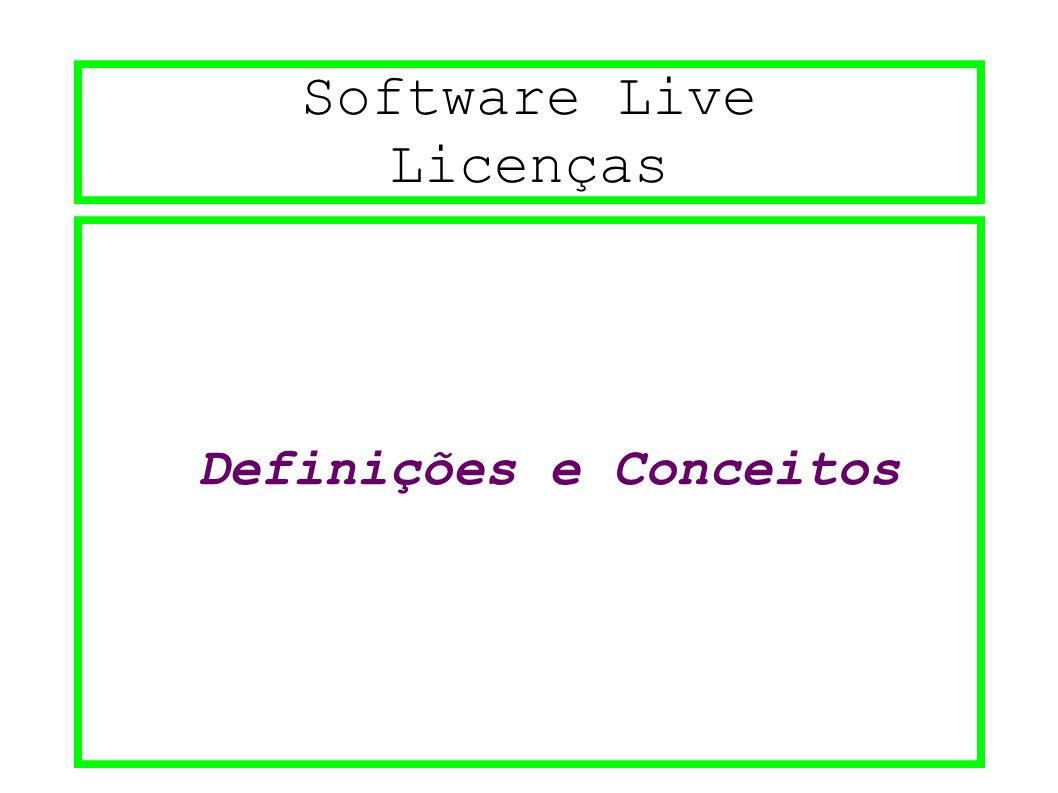 Software Live Licenças Definições e Conceitos