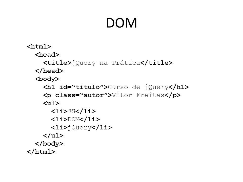 DOM jQuery na Prática Curso de jQuery Vitor Freitas JS DOM jQuery