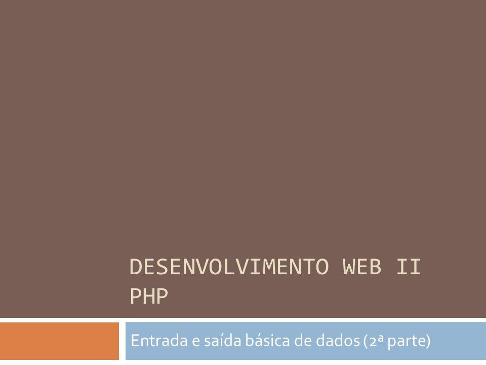 Envio de informações no PHP  Passagem de parâmetros via GET e via POST  Deve-se configurar o formulário da página dizendo para onde (qual arquivo) que se deve enviar o dado  De acordo com o método de passagem de parâmetro definido no formulário, uma função correspondente do PHP receberá o dado  $_POST [ nome_do_campo ]  $_GET [ nome_do_campo ]