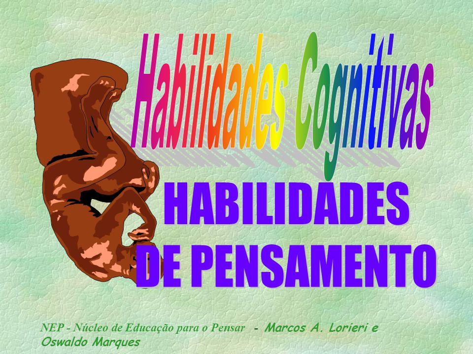 NEP - Núcleo de Educação para o Pensar - Marcos A. Lorieri e Oswaldo Marques TEXTO: PROF. MARCOS A. LORIERI APRESENTAÇÃO: PROF. OSWALDO MARQUES