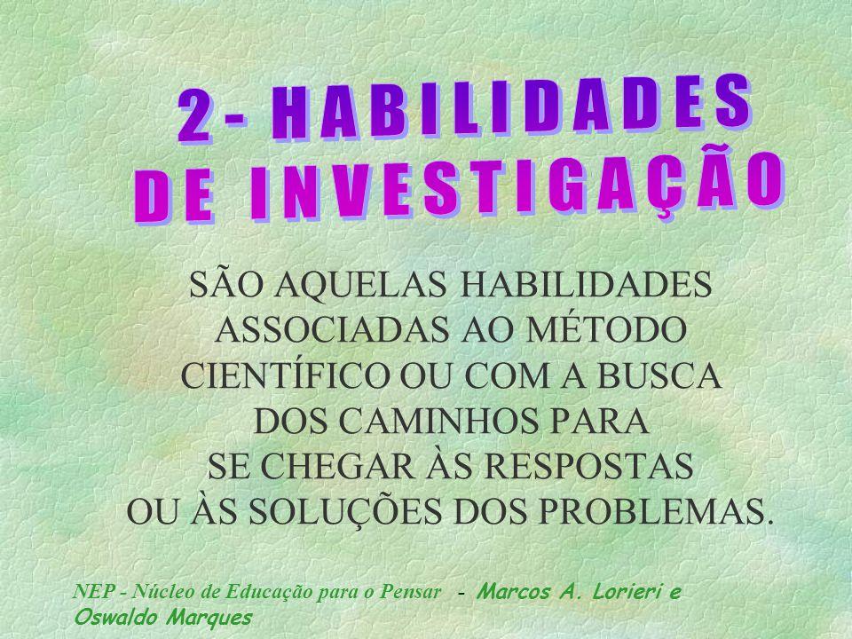 NEP - Núcleo de Educação para o Pensar - Marcos A.
