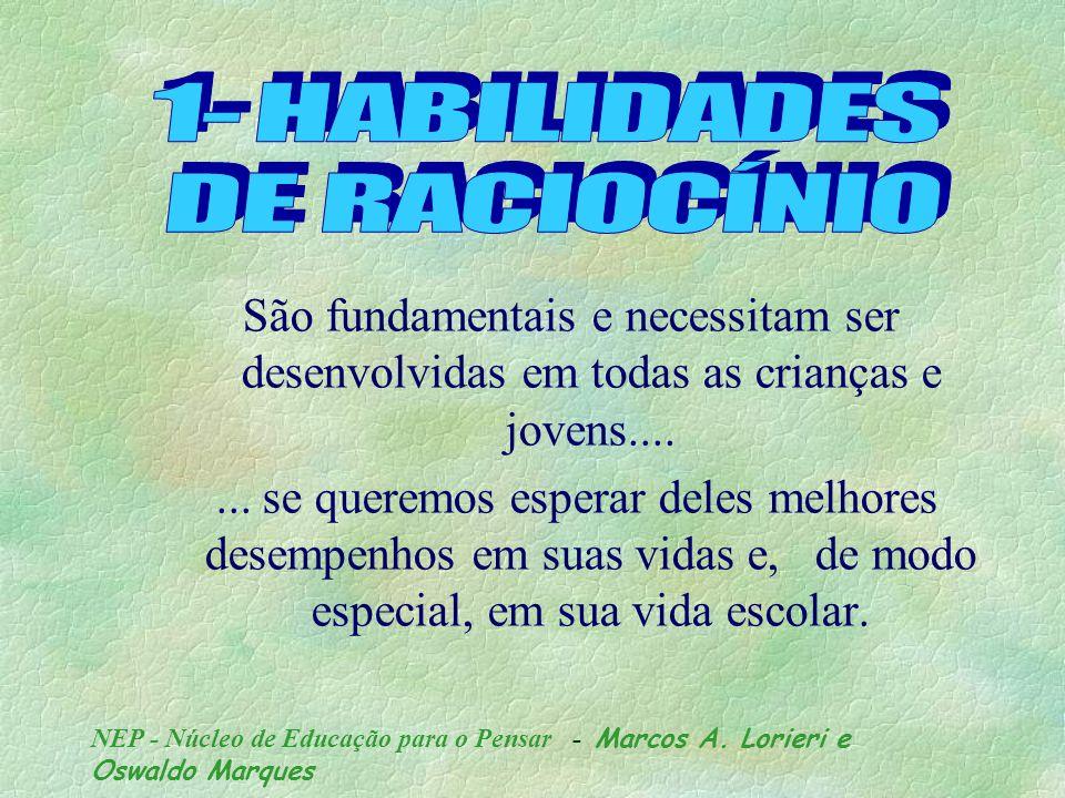 NEP - Núcleo de Educação para o Pensar - Marcos A. Lorieri e Oswaldo Marques