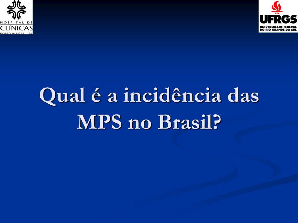 Qual é a incidência das MPS no Brasil?