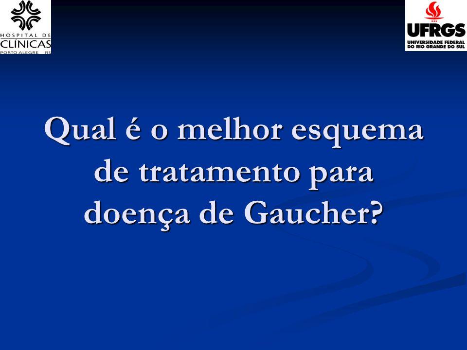 Qual é o melhor esquema de tratamento para doença de Gaucher?