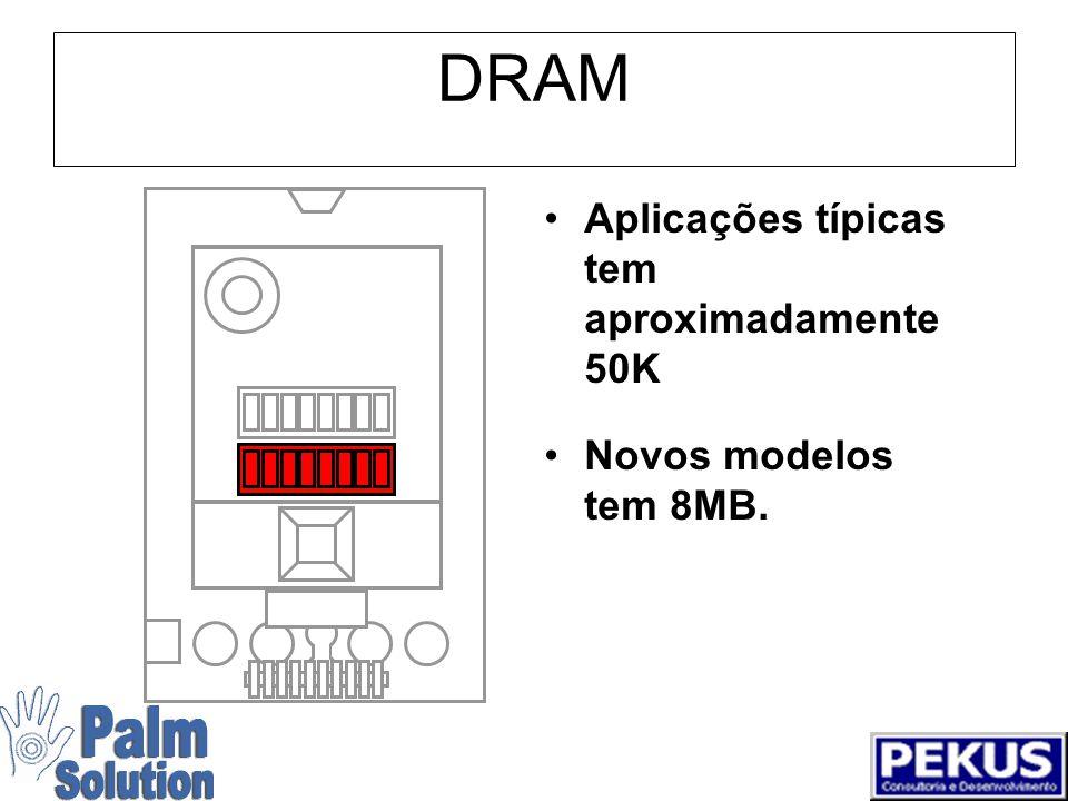 Flash ROM Contém Palm OS ® e todas aplicações residentes.