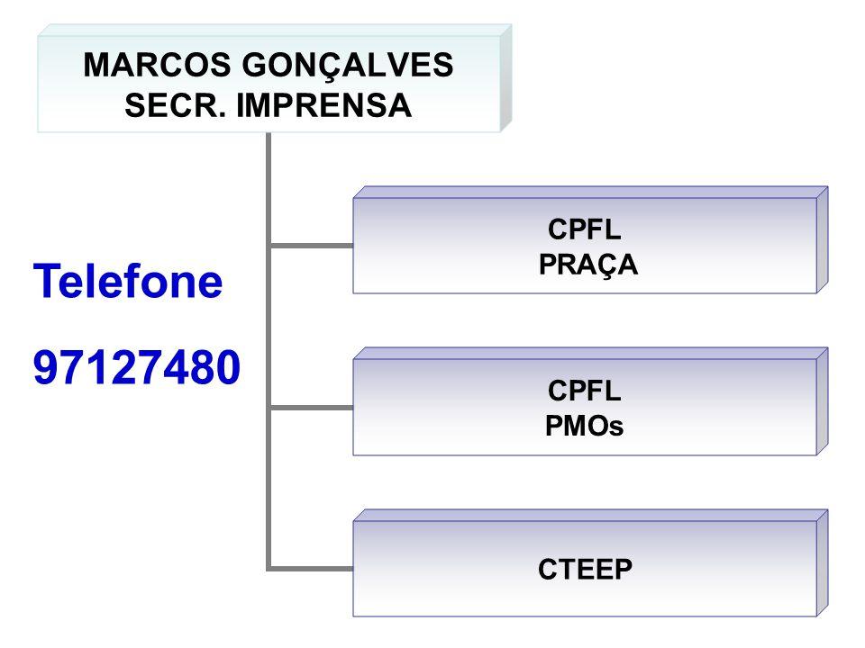 MARCOS GONÇALVES SECR. IMPRENSA CPFL PRAÇA CPFL PMOs CTEEP Telefone 97127480