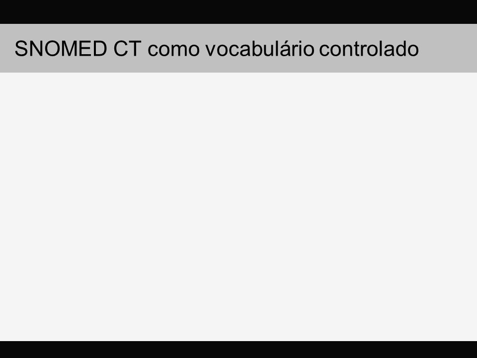 SNOMED CT como vocabulário controlado