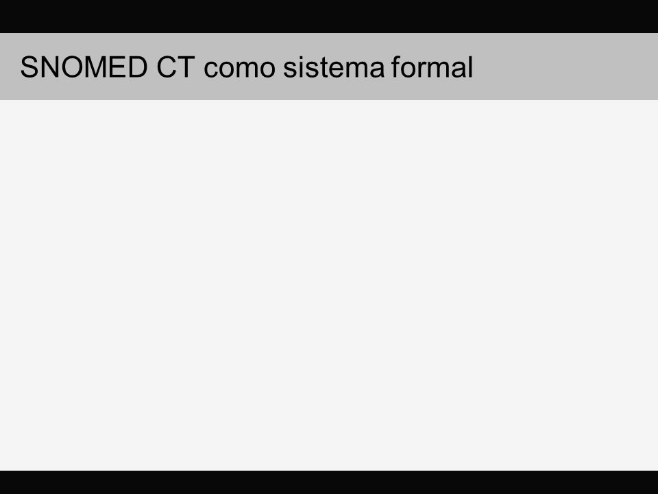SNOMED CT como sistema formal