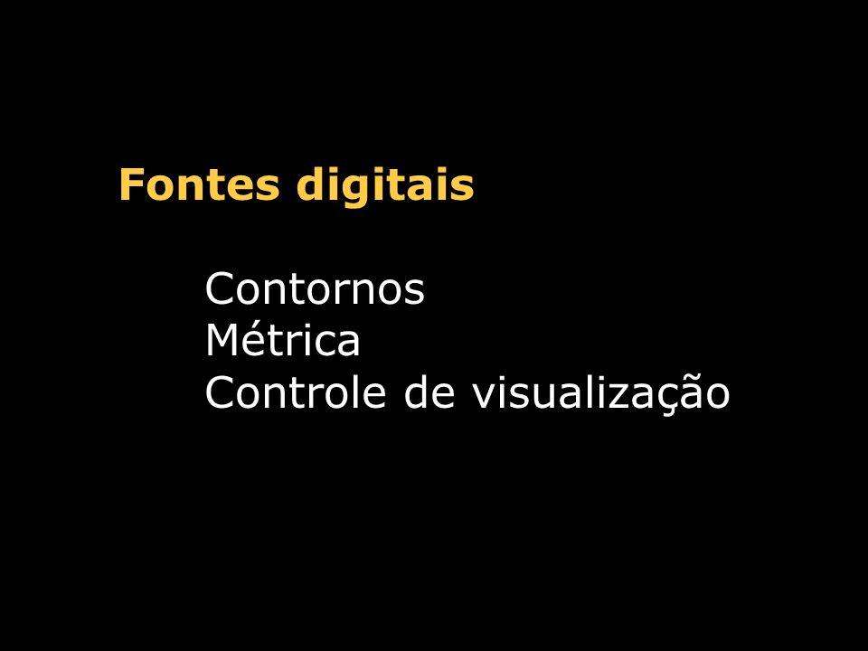 Fontes digitais Formato PostScript TrueType OpenType Multiple Master etc