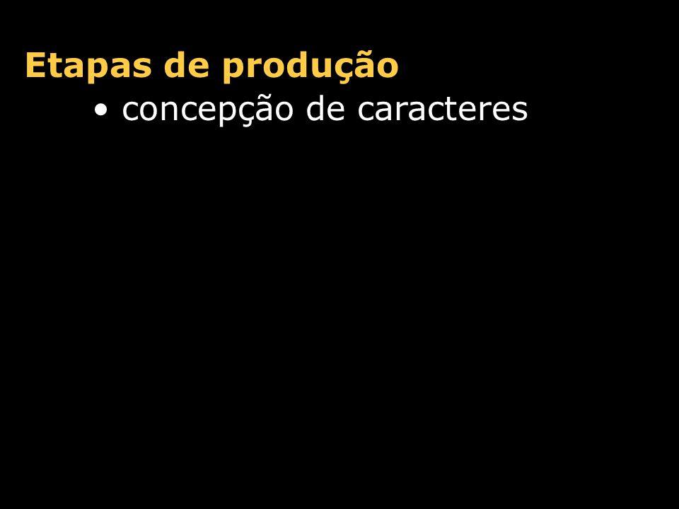 Etapas de produção concepção de caracteres desenvolvimento de contornos