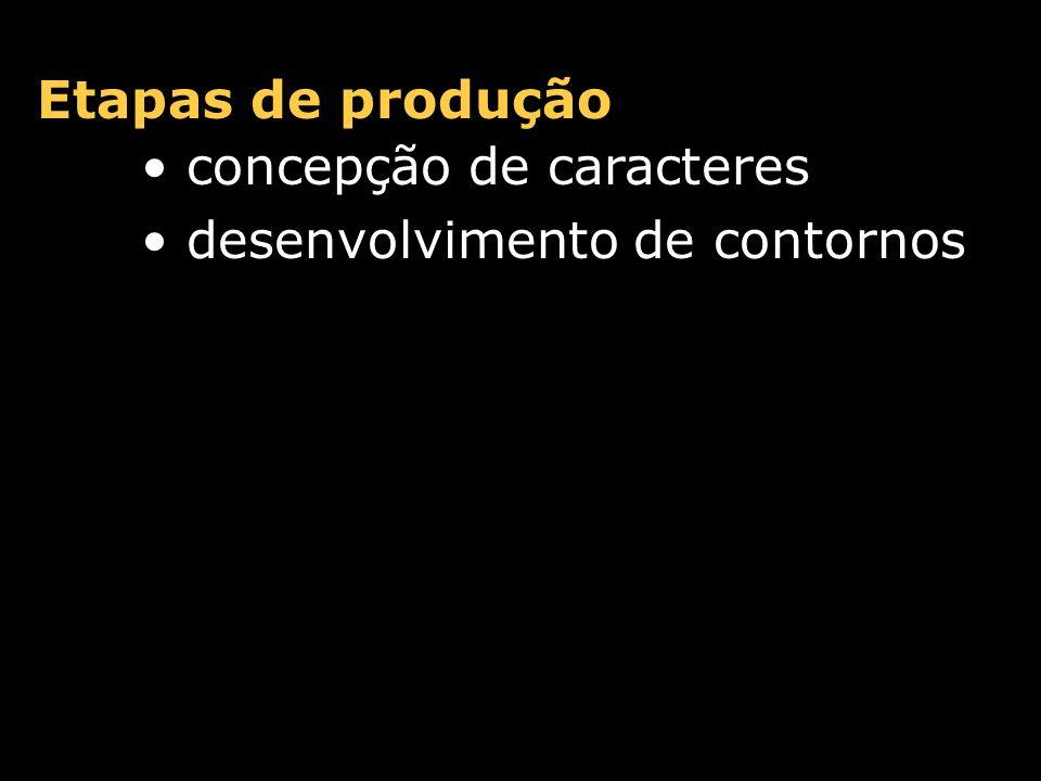 Etapas de produção concepção de caracteres desenvolvimento de contornos espaçamento