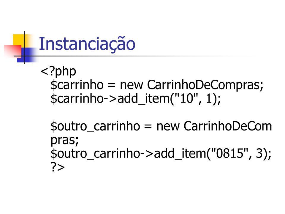 Instanciação add_item(