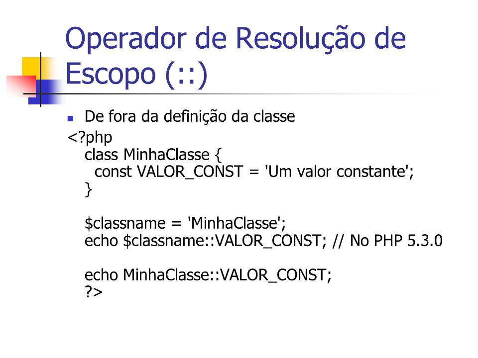 Operador de Resolução de Escopo (::) De fora da definição da classe
