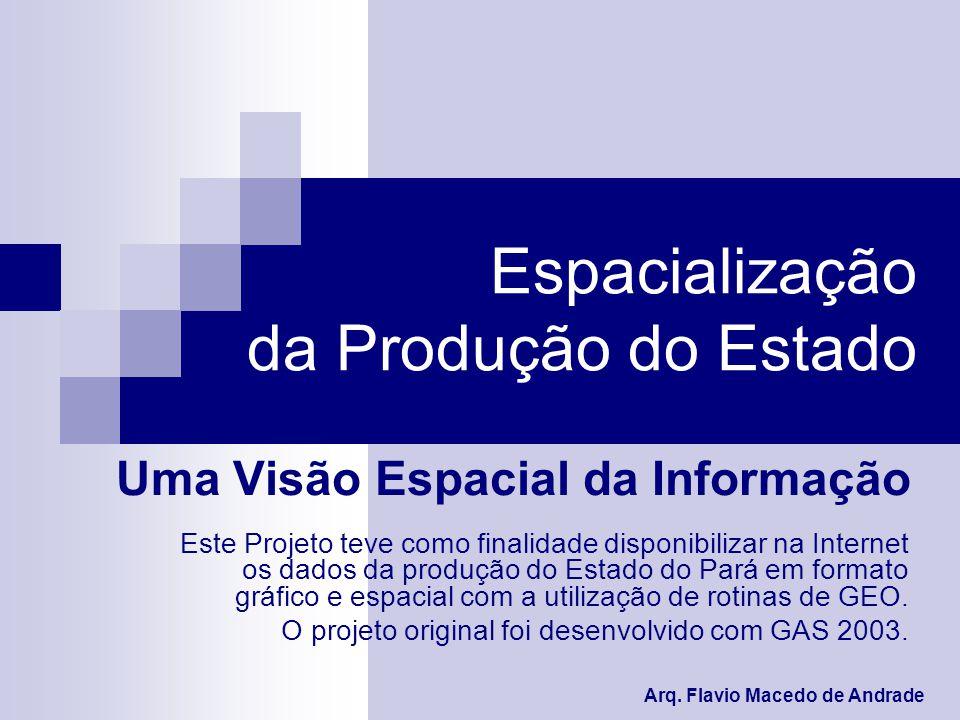 Espacialização da Produção do Estado Uma Visão Espacial da Informação Arq.