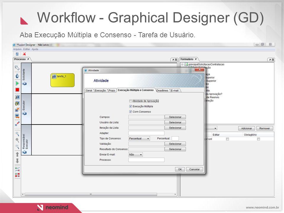 Workflow - Graphical Designer (GD) Aba Execução Múltipla e Consenso - Tarefa de Usuário.