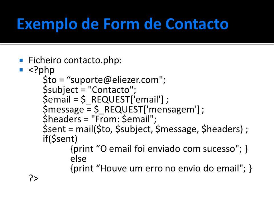  Ficheiro contacto.php: 