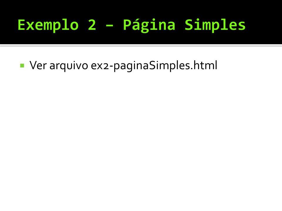  Ver arquivo ex2-paginaSimples.html